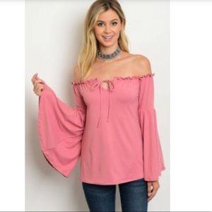 Eden Haute Pink Off the Shoulder Boho Top 💕 Sale